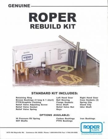 Roper 3617 Rebuild Kit with Bronze Bushings